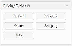 Gravity forms pricing fields, gravity forms plugin