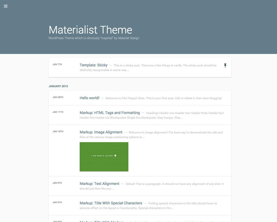 5 Free and Premium Material Design WordPress Themes