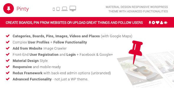 Premium Material Design WordPress Themes