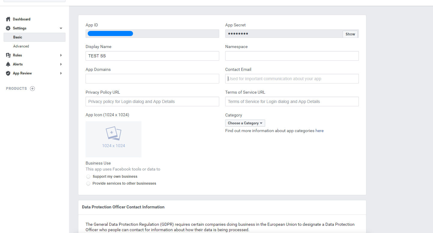 How to create Facebook App and get App ID and secret