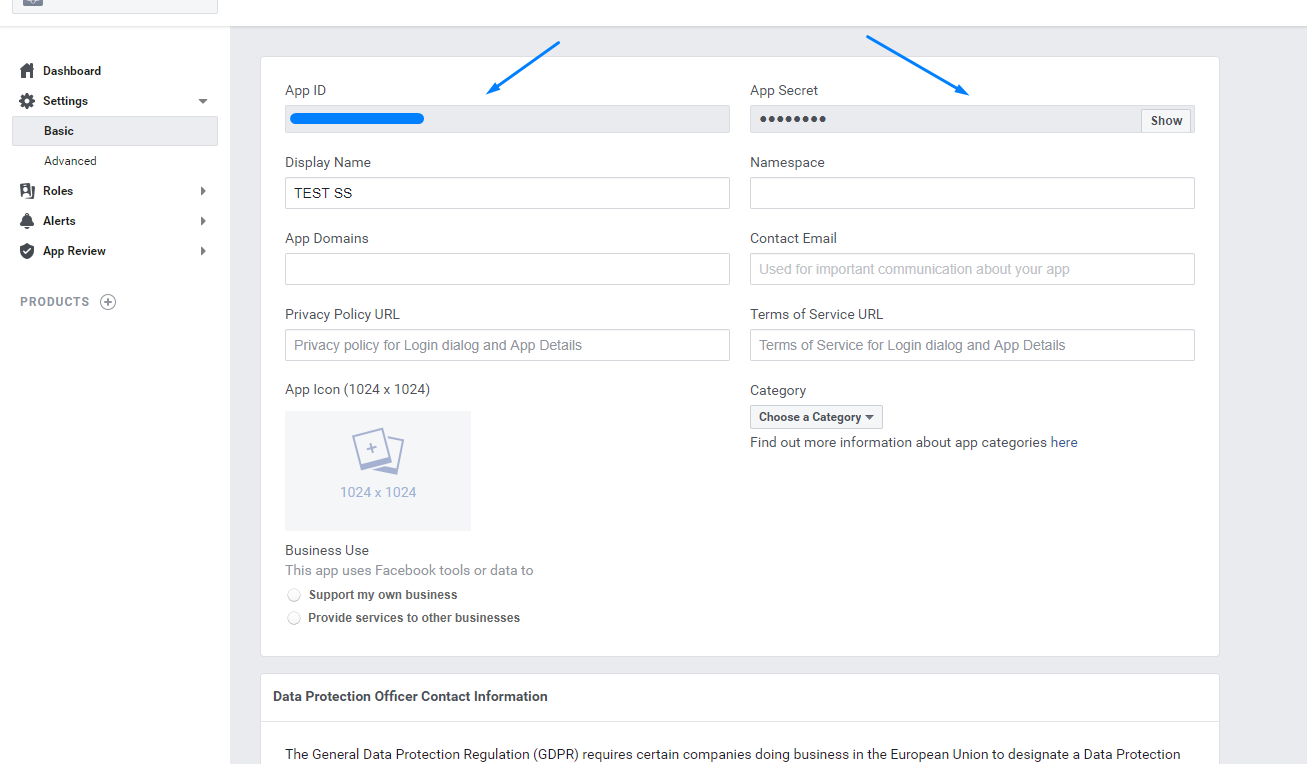 How to create Facebook App and get App ID and secret, Facebook AP ID and Secret Key